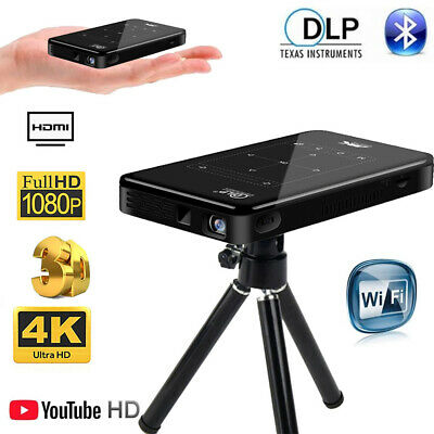 AU319.59 • Buy DLP Wifi Android HD 1080P Home Theater Projector HDMI USB 4K Mini Home Cinema 3D