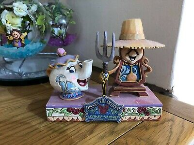 Disney Beauty And The Beast Cogsworth And Mrs Potts Showcase Collection • 0.99£