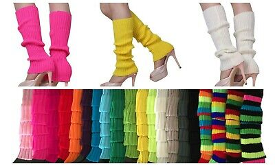AU6.99 • Buy Neon Fluro Leg Warmers 80s Disco Legging Socks Dance Hens Costume Dress Up