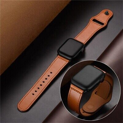 AU10.49 • Buy For Apple Watch Band Leather Strap IWatch Series 6 5 4 3 2 38mm 40mm 42mm 44mm