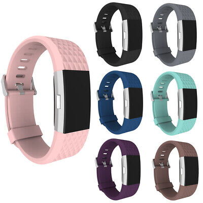 AU3.05 • Buy 3D Replacement Strap Wrist Band Sport Bracelet Watchband For Fitbit Charge 2 #b