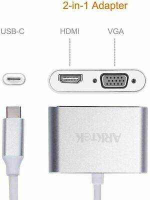 AU28.13 • Buy VGA HDMI Adapter USB Type C Dual Monitor Up To 4K USB C Display Hub For Apple