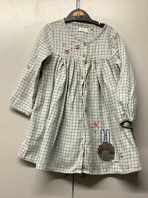 Next Long Sleeve Check Dress Age 2-3 Years  • 3£