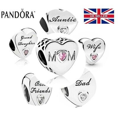 New Genuine PANDORA Sterling Silver ALE S925 Charm Daughter Wife Mum Love Heart • 8.99£