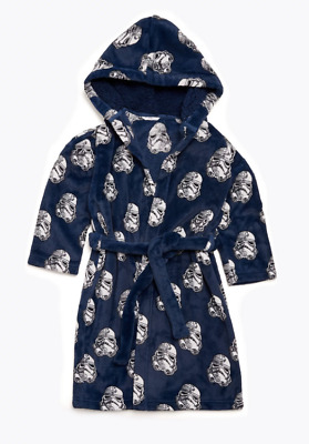 Ex M*S Kids Boys Fleece Star Wars™ Dressing Gown Age 8 - 9 Years (OR5.27) • 14.95£