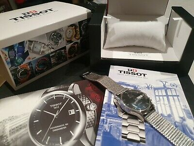 Tissot Visodate Automatic Watch. Milanese Mesh Bracelet. Box + Papers . RRP £475 • 116£