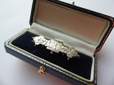 Victorian Silver Lucky Horseshoe, Sweetheart Brooch Boxed, Hallmark 1886 S.Bros  • 29.50£