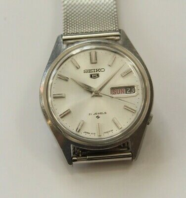 $ CDN53.37 • Buy Vintage Mens Seiko 5 Automatic Watch 6119-7000 Japan Made Running For Parts