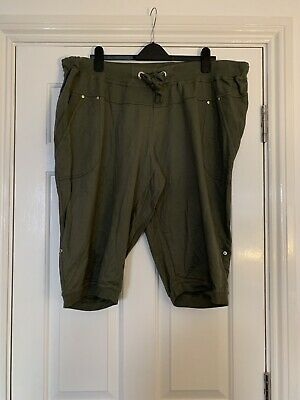 PLUS SIZE 26 Khaki Cropped Trousers From Simply Be • 4.99£