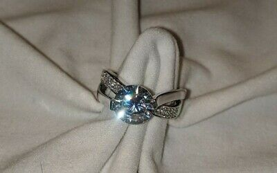 $39 • Buy CHARLES WINSTON Ring 6.77 CTW White Diamond Rhodium Over Sterling Silver Size 10