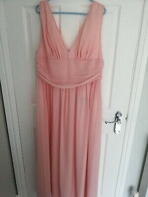 NEW WITH TAGS Ever-Pretty Pink Chiffon Dress. Size 14. • 13£