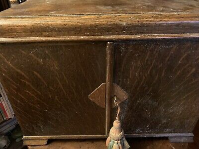 Antique Oak Cutlery Drawers/Box. Rare Design. Large Capacity And Carry To Table. • 175£