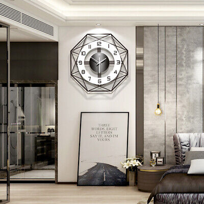 AU29.22 • Buy 13 Inch Wall Clock Modern Large Battery Operated Round Easy To Read Home Decor