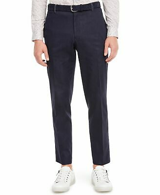 $ CDN8.83 • Buy INC Mens Pants Blue Size 33X30 Contrast Stitch Tapered Fit Flat Front  $59 #026