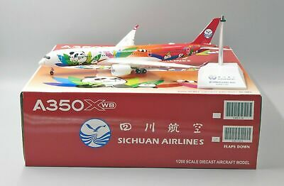 AU189.95 • Buy JC Wings 1:200 Sichuan Airlines Airbus A350-900 XWB 'Panda - Flaps Down' B-301D
