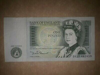 Old English One Pound Note, £1 Last Type Of One Pound Note Signed By Somerset • 2.11£