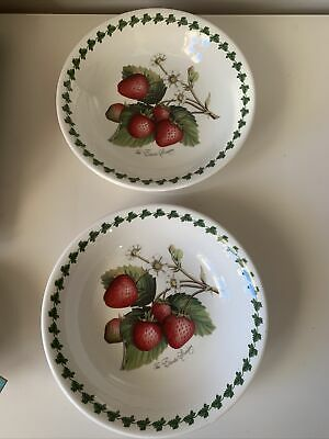 £30 • Buy 2 X Vintage Portmeirion Pottery Strawberry Fair Design 6.5in Pudding Bowls