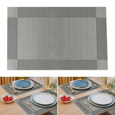 AU11.69 • Buy PVC Place Mats Pad Dining Table Rectangular Placemats Washable Non-Slip