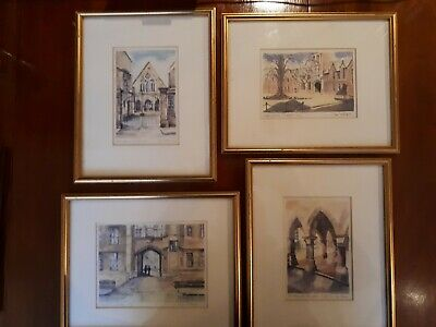 4 Framed Uppingham School Prints Limited Editions By Inger Mckenzie • 85£