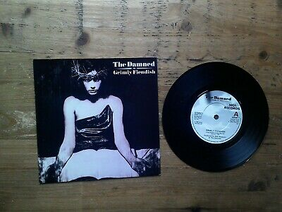 The Damned Grimly Fiendish Excellent 7  Single Vinyl Record GRIM1 P/S • 5£