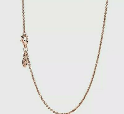 CLASSIC CABLE Authentic Rose GOLD Plated Chain Necklace  60cm Adjustable  • 9.95£