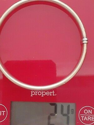AU91 • Buy  9ct Gold Bangle Weight 24gm Wear Or Scrap Silver Filled