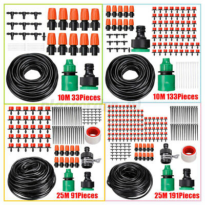 10m/25m Automatic Drip Irrigation System Kit Plant Timer Self Watering  • 9.04£