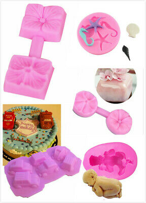 3D Flower Silicone Fondant Cake Mould Decorating Chocolate Baking Mold Tool • 0.99£