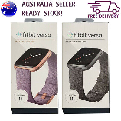 AU179.90 • Buy NEW FITBIT VERSA SPECIAL EDITION Smart Watch Aluminum Case Fitness Tracker