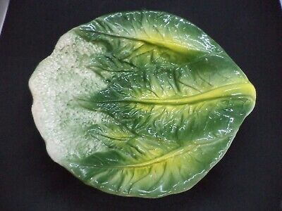 £15.99 • Buy Unusual Novelty Cabbage Cauliflower Shaped Pottery Bowl Plate Dish Vintage Old