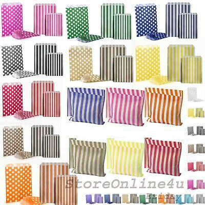 £2.85 • Buy Candy Stripe Paper Bags Gift Shop Party Buffet Weding Cake Sweet Treat Coloured