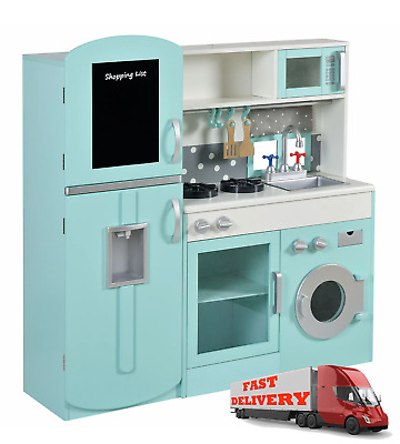 Kids Boys Girls Play Ultimate XL Extra Large Wooden Kitchen Set Perfect Gift • 99.99£