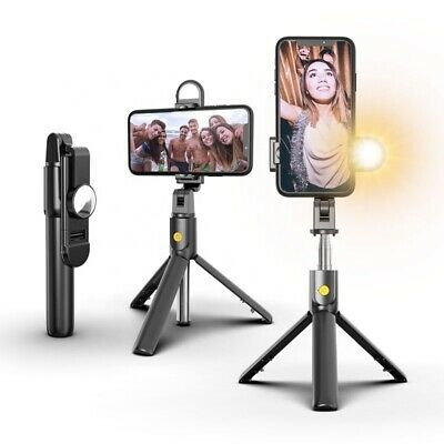 AU19.99 • Buy 4 In 1 Selfie Stick Bluetooth Tripod With Remote & LED Light For Iphone /Samsung