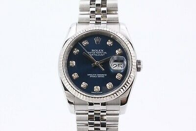 $ CDN12845.36 • Buy Rolex Datejust 116234 Diamond Dot 36mm Dial Box And Papers 2015