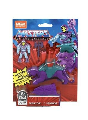 $18.50 • Buy Master Of The Universe Mega Construx Flocked Panthor And Skeletor *in Hand*