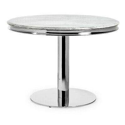 New Small Louis 1.06m Round Dining Table – Grey Marble - Dining Chair Sets • 399£