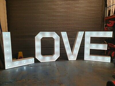 5ft LED Illuminated LOVE Letters Mains Power Carnival Marquee Wedding Eventdecor • 550£