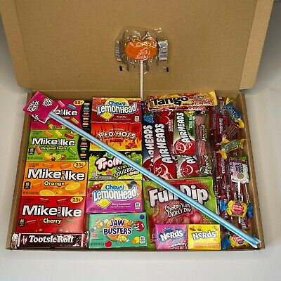 £7.99 • Buy American Sweets/Candy Gift Box  - Jolly Ranchers - Nerds - Mike & Ike - AirHeads