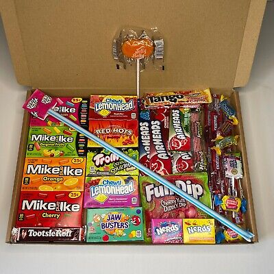 £13.99 • Buy American Sweets/Candy Gift Box  - Mike&Ike - AirHeads - Jolly Ranchers - Nerds