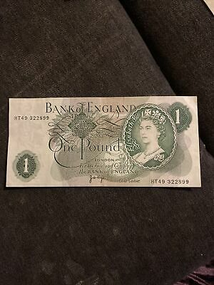 Bank Of England ~ Old One Pound Note ~ J Page AUNC • 0.99£