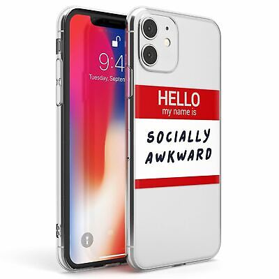 £9.95 • Buy Funny Hello Name Tags Socially Awkward Slim TPU Case For IPhone Sarcastic Quote