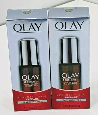 AU29.52 • Buy OLAY REGENERIST (2 Boxes) Miracle Boost Concentrate Fragrance Free 1.0 Oz NIB