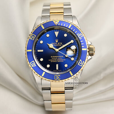 $ CDN17465.29 • Buy Rolex Submariner Pre-Ceramic 16613 Stainless Steel & 18k Yellow Gold