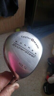 Taylormade Burner SuperSteel 10.5 Degree Driver  S-90 Bubble Graphite Shaft VGC • 40£
