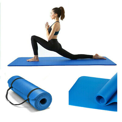AU12.99 • Buy 15MM Thick NBR Yoga Mat Pad Nonslip Exercise Fitness Pilate Gym Mats Blue