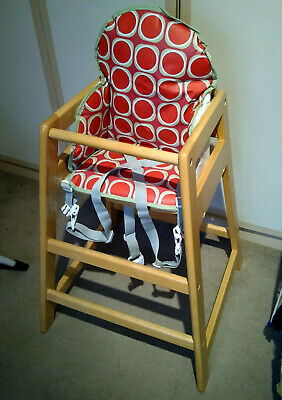 East Coast Wooden Highchair/high Chair With New Cushion Insert • 18£