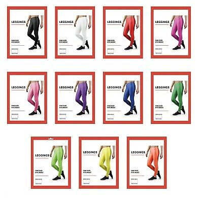 AU10.99 • Buy 80s Neon Leggings Costume 80's Stretch Fluro Pants Gym Yoga Dance Party
