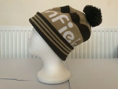 PENFIELD  - BOBBLE / BEANIE HAT - Brown And White -  ONE SIZE • 22£