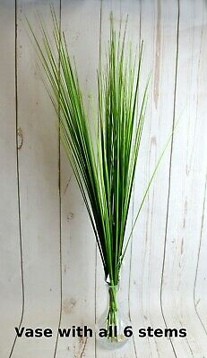 Artificial Onion Grass X 6 Stems Weddings Floral Fillers Vase • 14.89£