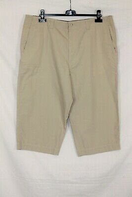 BHS Atlantic Bay Mens Beige Cotton Chino Shorts Size W38 ** See Description ** • 5£